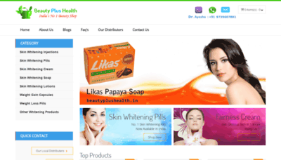 What Beautyplushealth.in website looked like in 2020 (1 year ago)