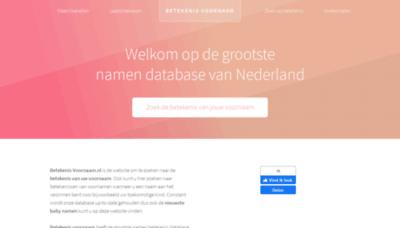 What Betekenis-voornaam.nl website looked like in 2020 (1 year ago)