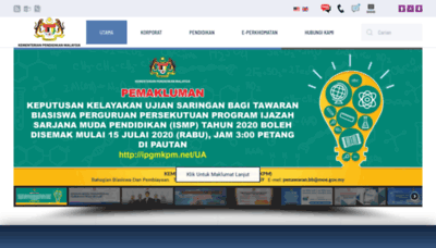 What Bpi.edu.my website looked like in 2020 (1 year ago)