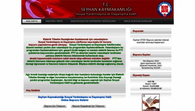 What Basvuru.seyhansydv.gov.tr website looked like in 2020 (This year)