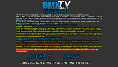 What Bmx-tv.net website looked like in 2020 (This year)
