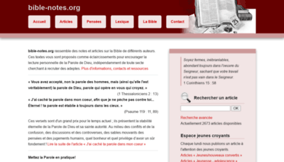 What Bible-notes.org website looked like in 2020 (This year)