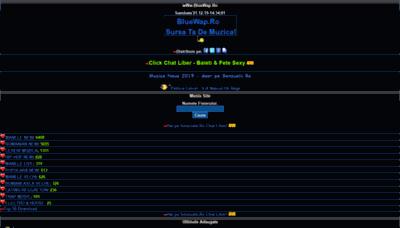 What Bluewap.ro website looks like in 2021