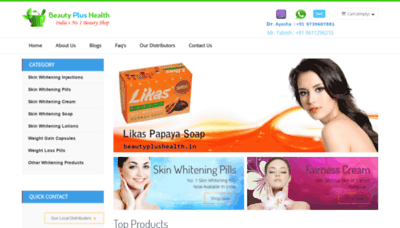 What Beautyplushealth.in website looks like in 2021