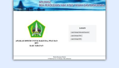 What Bphtb-online.tabanankab.go.id website looks like in 2021