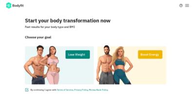 What Bodyfitplan.me website looks like in 2021