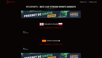 What Btvsports.fun website looks like in 2021