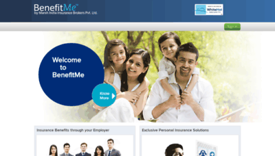 What Benefitme.co.in website looks like in 2021