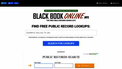 What Blackbookonline.info website looks like in 2021