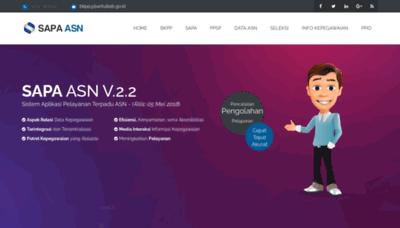 What Bkpp.bantulkab.go.id website looks like in 2021