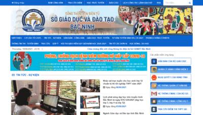 What Bacninh.edu.vn website looks like in 2021