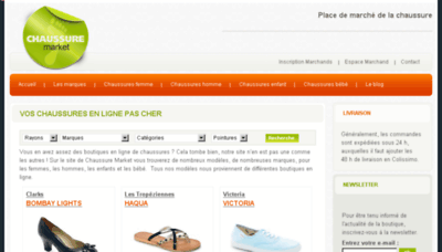 What Chaussure-market.fr website looked like in 2013 (8 years ago)