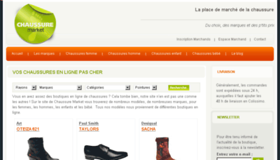 What Chaussure-market.fr website looked like in 2014 (7 years ago)