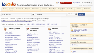 What Coyhaique.locanto.cl website looked like in 2015 (6 years ago)