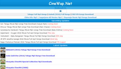 What Cinewap.net website looked like in 2016 (5 years ago)