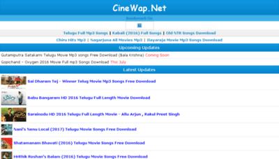 What Cinewap.net website looked like in 2017 (4 years ago)
