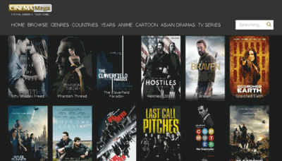What Cinemamega.net website looked like in 2018 (3 years ago)