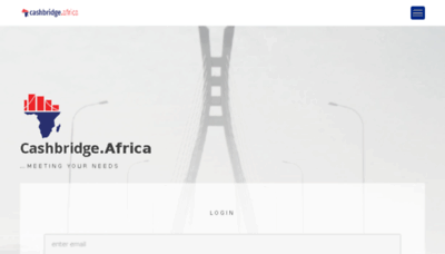 What Cashbridge.africa website looked like in 2018 (3 years ago)