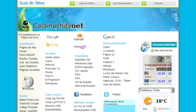 What Calamuchitanet.com.ar website looked like in 2018 (3 years ago)