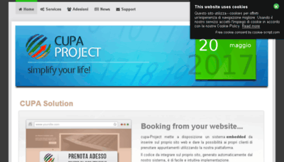 What Cupa-project.it website looked like in 2018 (3 years ago)