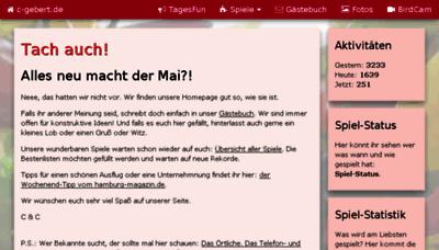 What C-gebert.de website looked like in 2018 (3 years ago)