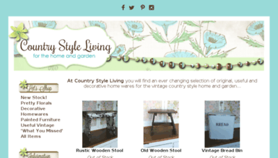 What Countrystyleliving.co.uk website looked like in 2018 (3 years ago)