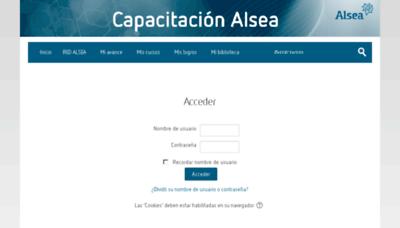 What Capacitacion.alsea.net website looked like in 2018 (3 years ago)