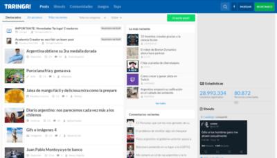 What Classic.taringa.net website looked like in 2018 (3 years ago)