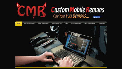 What Custommobileremaps.co.uk website looked like in 2018 (2 years ago)
