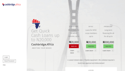 What Cashbridge.africa website looked like in 2019 (2 years ago)