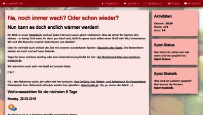 What C-gebert.de website looked like in 2019 (2 years ago)