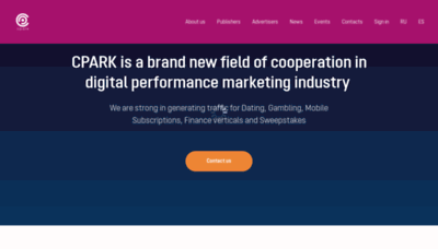What Cpark.pro website looked like in 2019 (2 years ago)