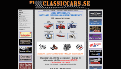 What Classiccars.se website looked like in 2019 (2 years ago)