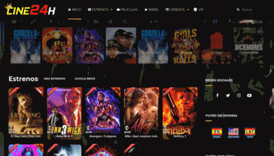 What Cine24h.net website looked like in 2019 (2 years ago)