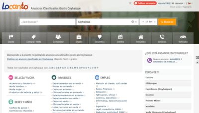 What Coyhaique.locanto.cl website looked like in 2019 (1 year ago)