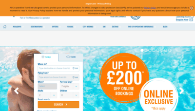 What Cooptravel.co.uk website looked like in 2019 (2 years ago)