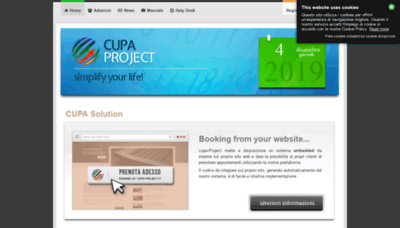 What Cupa-project.it website looked like in 2020 (1 year ago)
