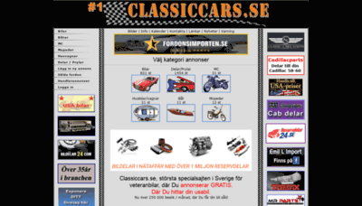 What Classiccars.se website looked like in 2020 (1 year ago)