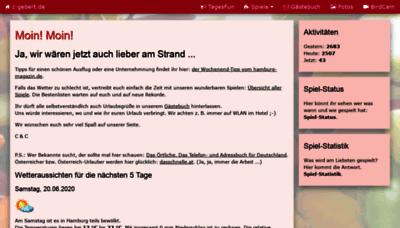 What C-gebert.de website looked like in 2020 (1 year ago)