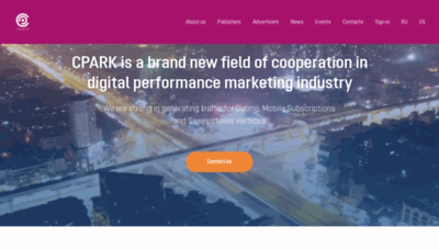 What Cpark.pro website looked like in 2020 (1 year ago)