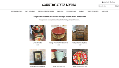 What Countrystyleliving.co.uk website looked like in 2020 (1 year ago)