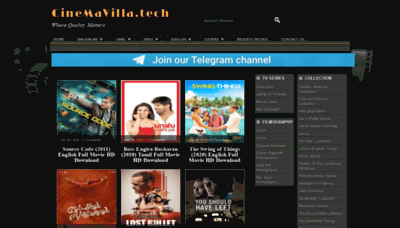 What Cinemavilla.life website looked like in 2020 (This year)