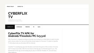 What Cyberflixtv.xyz website looked like in 2020 (1 year ago)