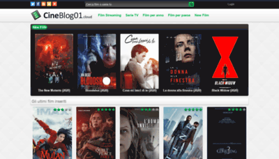What Cineblog01.fyi website looked like in 2020 (This year)