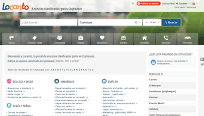 What Coyhaique.locanto.cl website looked like in 2020 (This year)