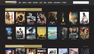 What Cinemamega.net website looked like in 2020 (This year)