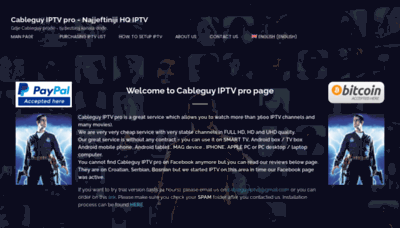 What Cableguy.pro website looked like in 2020 (This year)