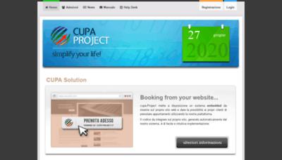 What Cupa-project.it website looks like in 2021