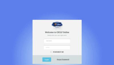 What Ceclfonline.org website looks like in 2021