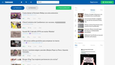What Classic.taringa.net website looks like in 2021